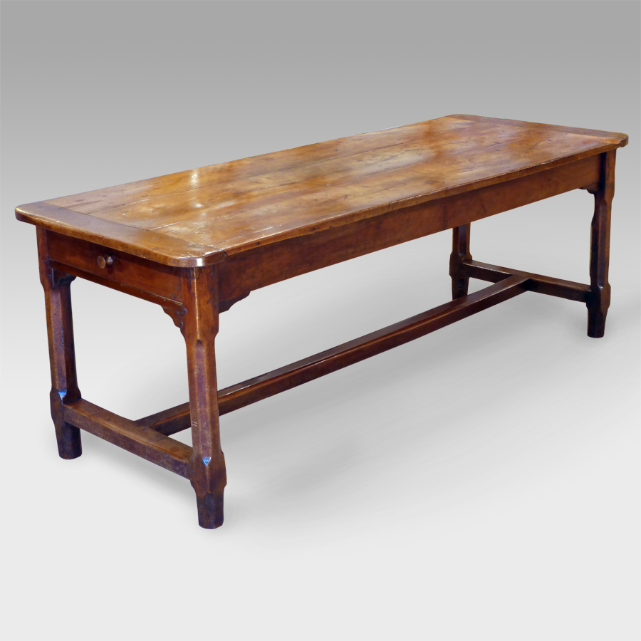 Antique Cherry Wood Dining Table Refectory Rustic Kitchen Country Cherrywood Antiques Uk Georgian Furniture Regency Victorian
