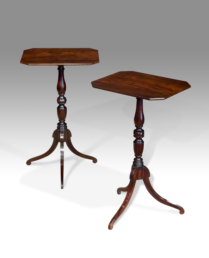 Pair Of Antique Lamp Tables, Antique Lamp Tables
