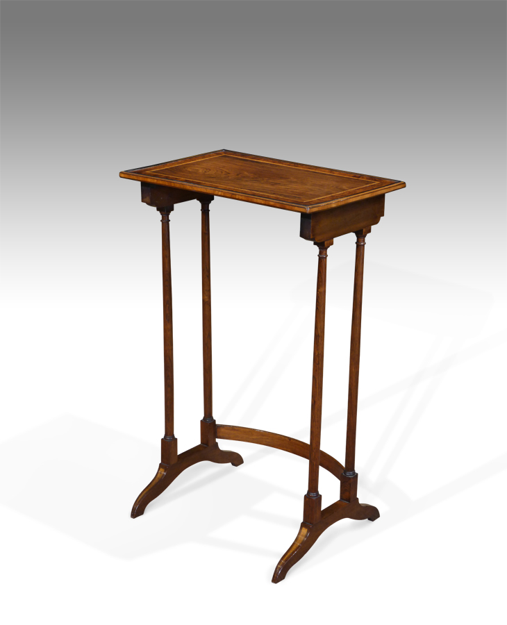 Regency Lamp Table Small Antique Side, Antique Lamp Tables