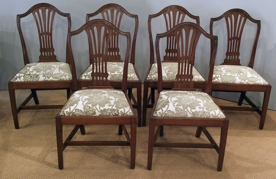 Set Of 6 Antique Mahogany Dining Chairs, Antique Dining Room Chairs