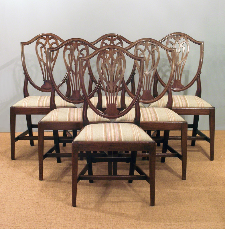 Set Of Six Antique Dining Chairs, Antique Dining Room Chairs