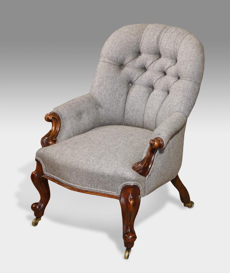 Small antique arm chair, antique nursing chair, antique bedroom