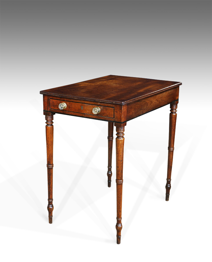 Small Antique Side Table Mahogany, Antique Lamp Tables