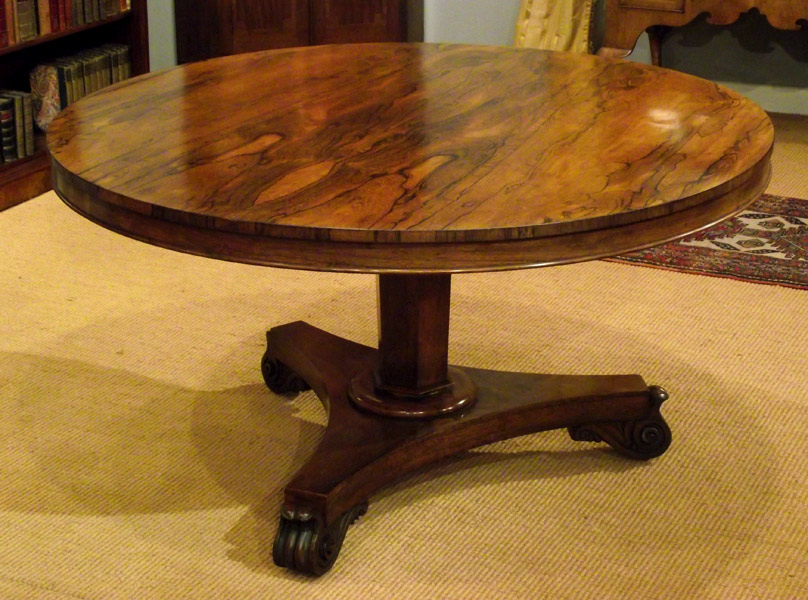 William Iv Rosewood Breakfast Table, Antique Round Kitchen Table