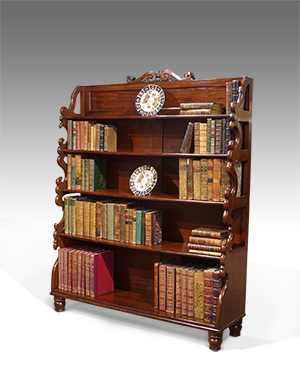 Antique waterfall bookcase - £ 1980