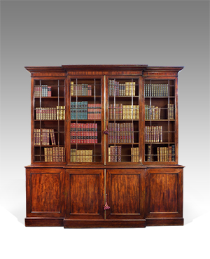 Georgian breakfront library bookcase - £ 10500