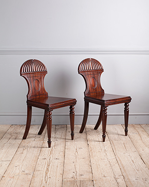 Pair of antique hall chairs - £ 1800
