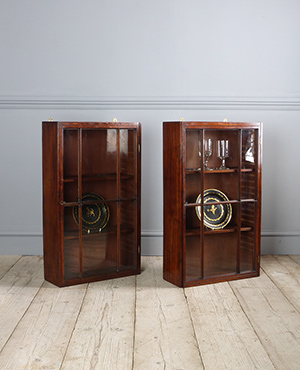 Pair of antique wall cabinets - £ 2150
