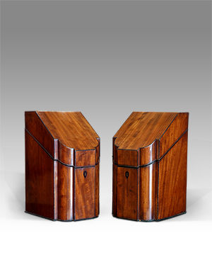 Pair of knife boxes - £ 1680