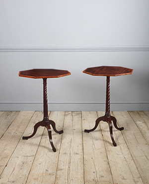 Pair of octagonal lamp tables - £ 2700