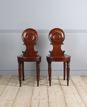Pair of Regency hall chairs - £ 1880