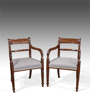Pair of Regency open arm chairs - £ 2200
