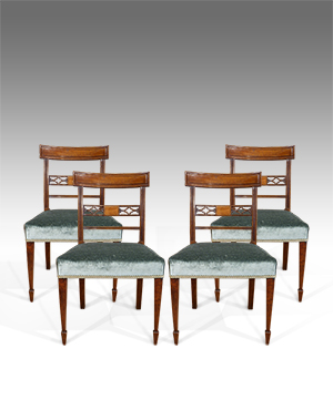 Set of 4 antique dining chairs - £ 2350