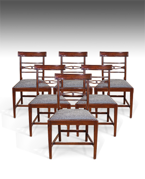 Set of 6 antique dining chairs - £ 2750