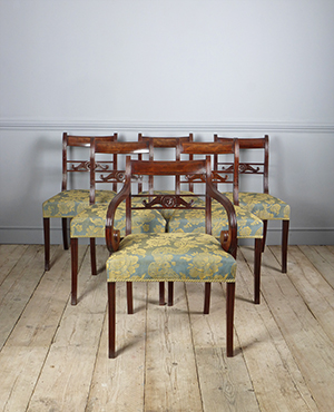 Set of 6 antique dining chairs - £ 2950