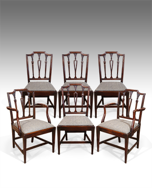 Set of 6 antique dining chairs - £ 3200