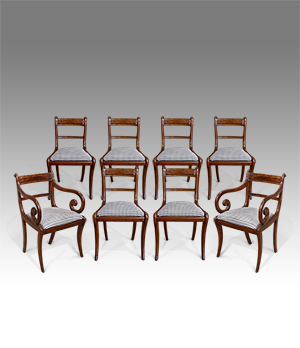 Set of 8 antique dining chairs - £ 4400