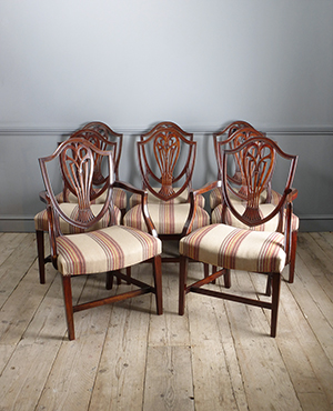 Set of 8 Georgian dining chairs - £ 5850