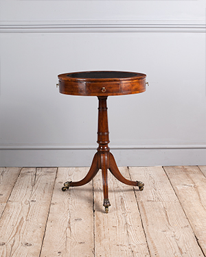 Small antique drum table - £ 2150